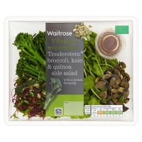 Waitrose tenderstem broccoli, kale & quinoa side salad