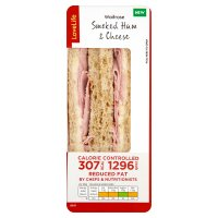 Waitrose LoveLife Calorie Controlled smoked ham & cheese sandwich