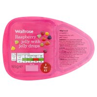 Waitrose raspberry jelly with jelly drops