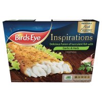 Birds Eye fish fusions 2 garlic & herb fillets