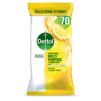 Dettol 72 multi action wipes,  citrus zest