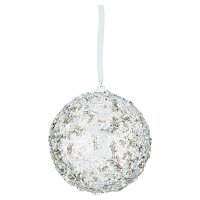 Waitrose Christmas Silver Decoration