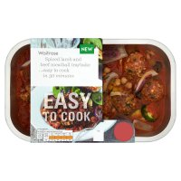 Waitrose Easy to Cook spiced lamb & beef meatball traybake