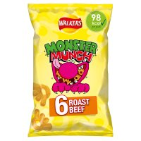 Walkers Monster Munch roast beef multipack crisps