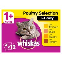 Whiskas 1+ Years Poultry Selection in Gravy
