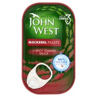John West mackerel fillets in spicy tomato sauce