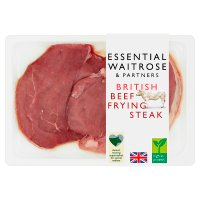 essential Waitrose British beef frying steak