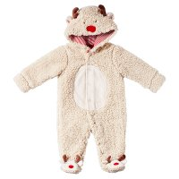 Waitrose CHRISTMAS REINDEER FLEECE AIO 0-