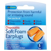 Earplanes soft foam earplugs