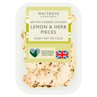 Waitrose British roast chicken lemon & herb pieces