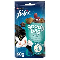 FELIX® GOODY BAG Adult Cat Seaside Mix with Salmon, Pollock & Trout flavour Treats Pouch