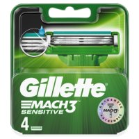 Gillette Mach 3 Sensitive Power Razor Blades 4 count