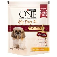 Purina one my dog is... food lover