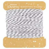 Waitrose Christmas Butchers Twine Silver & White
