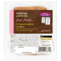 Waitrose LOVE life gluten free fruited English muffins