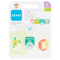 Mam soother air 0+ , pack of 2, assorted