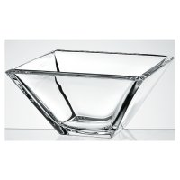 Clear 26cm glass square bowl