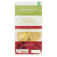Waitrose fresh pasta goats cheese & red onion fiorelli