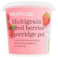 Waitrose LoveLife Multigrain Red Berries Porridge