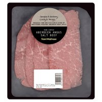 from Waitrose Hand Carved Aberdeen Angus Salt Beef