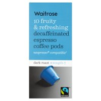 Waitrose Espresso Coffee Pods Decaffeinated
