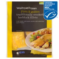 Waitrose Frozen MSC line caught smoked haddock fillets