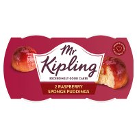 Mr Kipling 2 raspberry sponge puddings