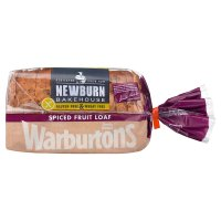 Warburtons gluten and wheat free spiced fruit loaf