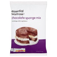 essential Waitrose chocolate sponge mix