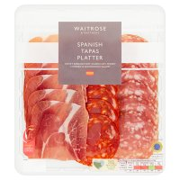 Waitrose farm assured Spanish tapas platter, chorizo, serrano ham & salchichon