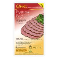 Gilbert's peppered beef salami
