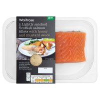 Waitrose 2 Scottish salmon fillets with honey & mustard