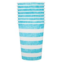 Alfresco stripe paper cups