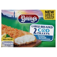 Young's Large Breaded Wheat Free Cod Fillets