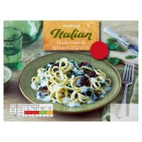 Waitrose mushroom and spinach linguine