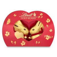 Lindt gold kissing bunnys
