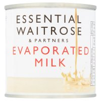 essential Waitrose evaporated milk