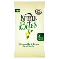 Kettle Bites Mozzarella & Pesto Lentil Curls