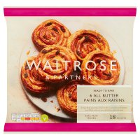 Waitrose Frozen 6 pains aux raisins