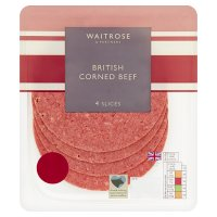 Waitrose British corned beef, 4 slices