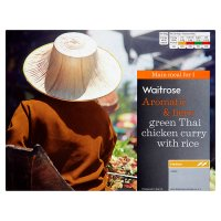 Waitrose green Thai chicken curry & rice