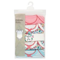 Waitrose 5 PK GIRLS BODYSUIT-ALLOTMENT 12
