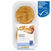 essential Waitrose MSC 2 line caught cod & parsley fishcakes