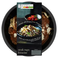 menu from Waitrose steak ragu and fettuccine