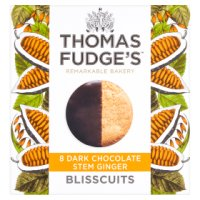 Thomas.J.Fudge's ginger blisscuits in dark chocolate