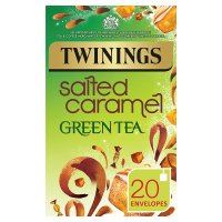 Twinings salted caramel green tea 20 envelopes