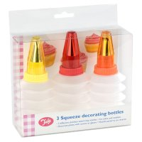 Tala squeeze decorating icing bottles, set of 3