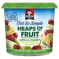 Quaker Oats So Simple Heaps of Fruit apple & cherry Pots