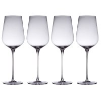 from Waitrose red wine crystal glasses, pack of 4