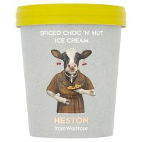 Heston from Waitrose choc & nut ice cream